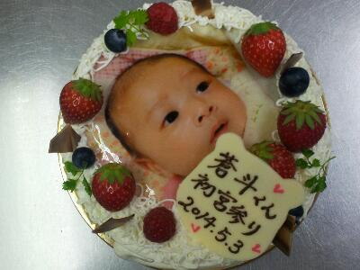 食べられる写真のケーキ