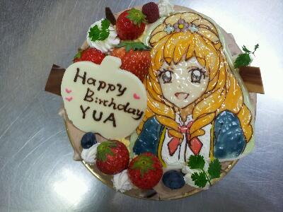 イラストのケーキ