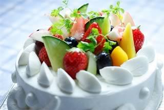 ショートケーキのフルーツ盛り合わせ